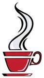 De rode kop van de Koffie Stock Afbeelding