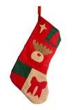 De rode kous van Kerstmis stock afbeeldingen