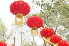 De rode lantaarns royalty-vrije stock afbeeldingen