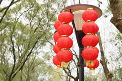De rode lantaarns stock foto