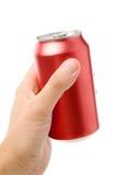 De rode lege soda kan Stock Foto