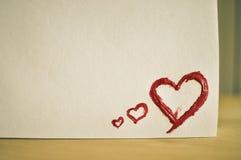 De rode Liefde van het Hart Van de kunst de olie (acryl) verven De dag van de valentijnskaart royalty-vrije stock foto's