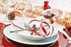 De rode lijst van Kerstmis stock foto's