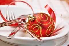 De rode lijst van Kerstmis royalty-vrije stock fotografie