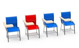 De rode lijststoel Royalty-vrije Stock Afbeelding