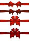 De rode Linten van de Gift Stock Foto's