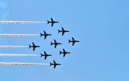 De rode Lucht van Pijlen toont Royalty-vrije Stock Fotografie