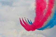 De rode Lucht van Pijlen toont royalty-vrije stock foto's