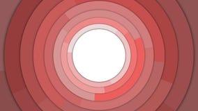 De rode Moderne Cirkels kopiëren Ruimte Abstracte Achtergrond Stock Foto