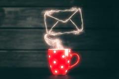 De rode Mok van de Koffie royalty-vrije stock afbeeldingen