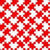 De rode Naadloze Achtergrond van Puzzelstukken stock illustratie