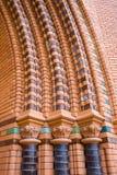 De rode Ornamenten van de Kerk van Bakstenen Royalty-vrije Stock Afbeelding