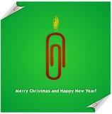 De rode paperclip van de Kerstmiskaars Stock Afbeelding