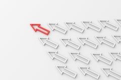 De rode Pijl van de Leider Stock Afbeeldingen