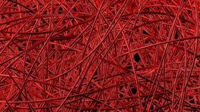 De rode pijpen maken dicht abstract netwerk Stock Afbeeldingen