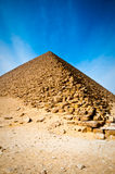 De rode Piramide in Egypte royalty-vrije stock foto's