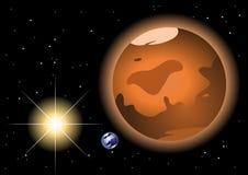 De rode planeet van Mars royalty-vrije illustratie