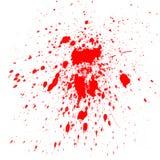 De rode plonsen van de Waterverf Stock Afbeelding