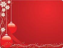 De rode prentbriefkaar van Kerstmis Royalty-vrije Stock Afbeeldingen