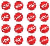 De rode Reeks van de Sticker Royalty-vrije Stock Fotografie
