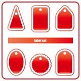 De rode Reeks van het Etiket Royalty-vrije Stock Afbeeldingen