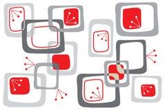 De rode retro vierkanten van de kers vector illustratie