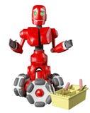 De rode robot Royalty-vrije Stock Fotografie