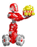De rode robot Stock Afbeeldingen