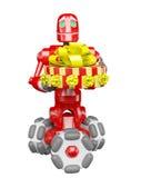 De rode robot Royalty-vrije Stock Afbeelding
