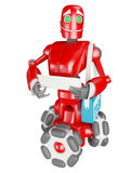 De rode robot Stock Foto's