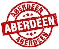 De rode ronde zegel van Aberdeen Stock Afbeeldingen