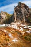 De rode rotsen van de herfst Stock Foto