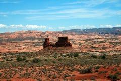De rode Rotsvormingen overspant Nationaal Park Stock Foto's