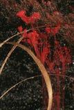 De rode samenvatting van het inktwater Stock Fotografie
