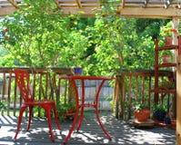 De rode samenvatting van het terrasmeubilair Royalty-vrije Stock Foto's