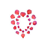 De rode Schoonheid van het Hart van het Bloemblaadje Stock Foto's