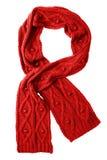 De rode sjaal van de wol Stock Foto's