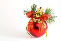 De rode snuisterij van Kerstmis stock afbeeldingen
