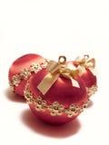 De rode Snuisterijen van Kerstmis Stock Afbeelding