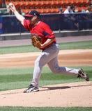 De Rode Sox waterkruik van Pawtucket Brandon Duckworth stock afbeelding