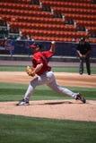 De Rode Sox waterkruik van Pawtucket Brandon Duckworth stock foto