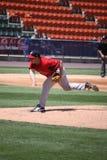 De Rode Sox waterkruik van Pawtucket Brandon Duckworth stock afbeeldingen