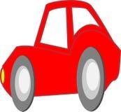 De rode Sportwagen van het Beeldverhaal Stock Afbeelding