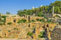 De rode stenen van Carthago royalty-vrije stock fotografie