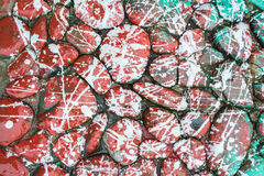 De rode Stenen van de Verfdruppel Stock Afbeeldingen