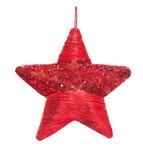 De rode ster van Kerstmis Stock Fotografie