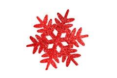 De rode ster van Kerstmis Royalty-vrije Stock Foto's