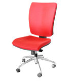 De rode stoel van het bureau Stock Afbeelding