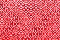 De rode stof van het diamantpatroon Royalty-vrije Stock Fotografie