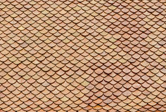 De rode tegels van het bakstenendak Stock Foto